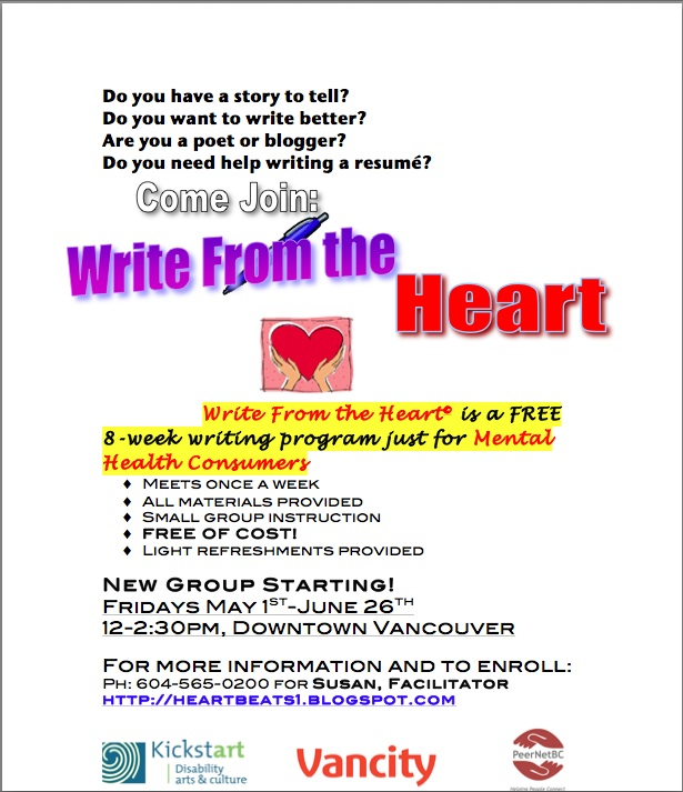 Write from the Heart flyer May 2015