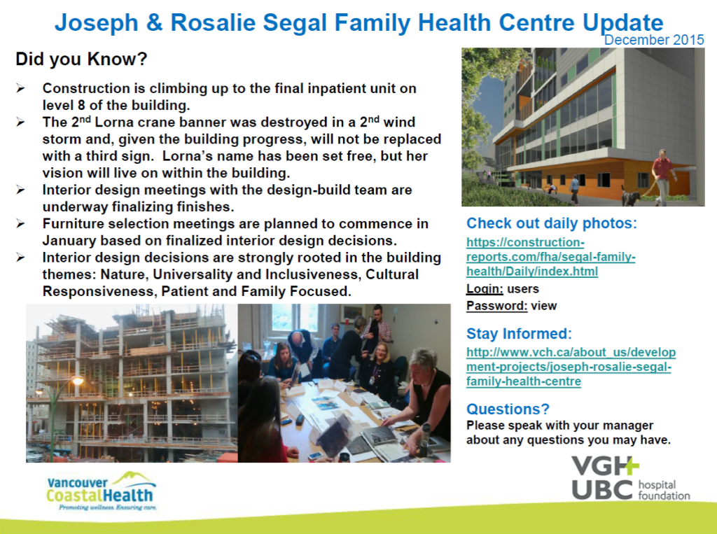 2015-12-15 Joseph & Rosalie Segal Family Health Centre